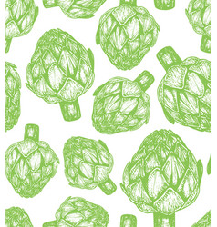 Hand drawn of artichoke sketch vector