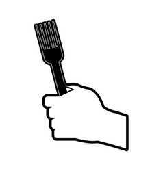 hand holding fork icon image vector image vector image