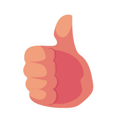human hand showing giving thumb up approval vector image