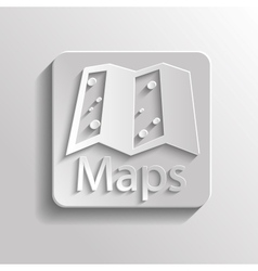 Icon map vector image vector image