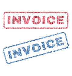 Invoice textile stamps vector