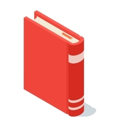 Isometric book icon vector image vector image