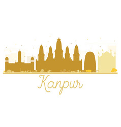 Kanpur city skyline golden silhouette vector