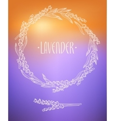Lavender wreath vector