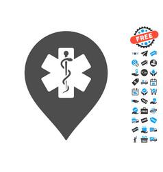 Medicine marker icon with free bonus vector