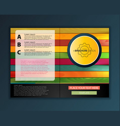 Modern abstract brochure color wood report or vector