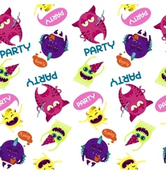 Monsters pattern vector image vector image