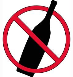 No drinking sign vector image