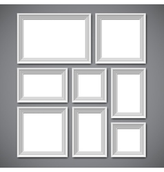 Picture Frames Collage vector image vector image
