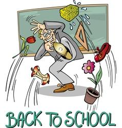 School teacher at blackboard vector