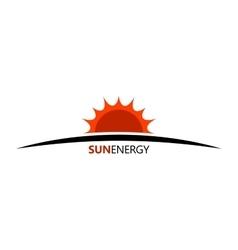 Sun energy logo ceology energe design sun logo vector