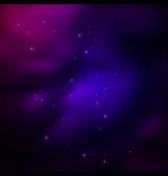 universe background with stars vector image
