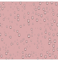 Water transparent drops seamless pattern and pink vector