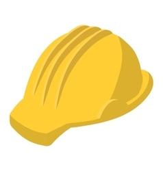 Yellow safety helmet cartoon vector