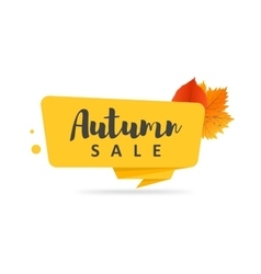 Autumn sale banner origami style paper design vector