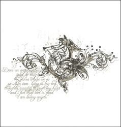 angels melody vector image