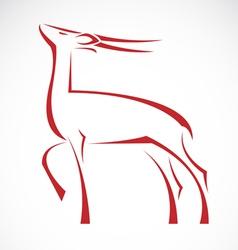 Barking deer vector image