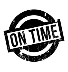 On time rubber stamp vector