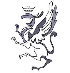Bird coat of arms vector
