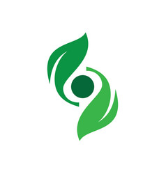 Abstract leaf spin eco logo image vector