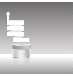 Cream jar with ribbon vector