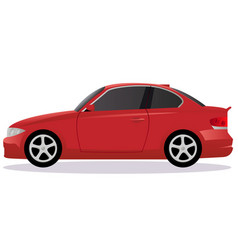 Coupe car body type vector