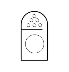 Salt shaker isolated icon vector
