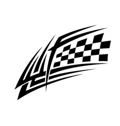 Racing tattoo in tribal style vector image