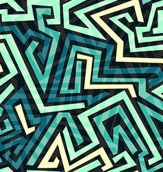 Blue maze seamless pattern vector