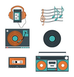 Music players and components vector image