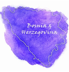 Bosnia herzegovina map vector