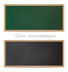 Blackboards black and green vector