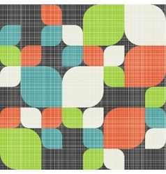 Retro seamless pattern with leaves vector
