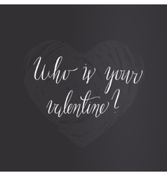 Valentine day lettering vector