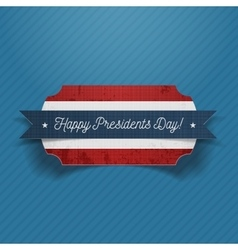 Happy presidents day realistic patriotic banner vector