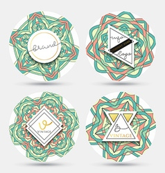 Set of 4 label with the mandala Collection vector image