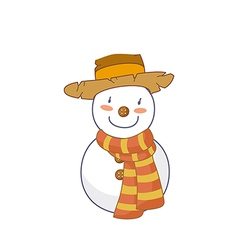 A snow man vector