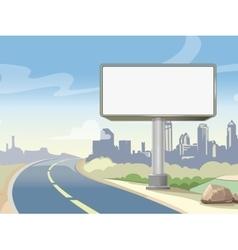 Blank advertising highway billboard and urban vector