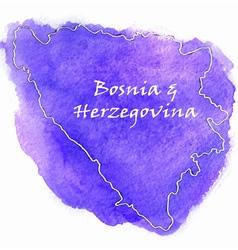 Bosnia Herzegovina map vector image