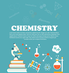 chemistry study education and science concepts vector image vector image