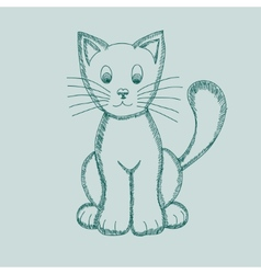 Cute Pseudo-pencil Drawing Cat vector image