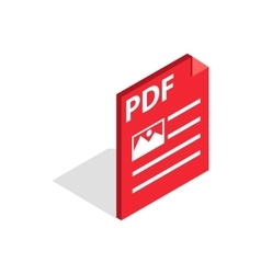 Document file format PDF icon isometric 3d style vector image