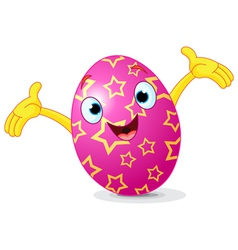 Easter Egg Presenting vector image vector image