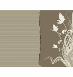floral edge vector image