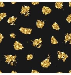 Golden glitter seamless pattern background vector image vector image
