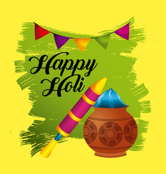 Happy holi festive party traditional poster vector