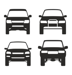 icon of suv truck 4x4 off road vector image