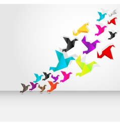 origami bird flying vector image vector image