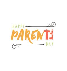 parents day badge design sticker stamp logo - vector image