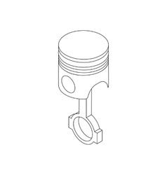 Piston icon isometric 3d style vector